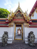Thai art door in Wat Pho Royalty Free Stock Photo