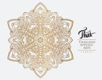 Thai art element for design. Royalty Free Stock Image