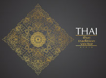 Thai art element Traditional gold for greeting cards Stock Photo
