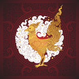 Thai art element Traditional gold for greeting cards Royalty Free Stock Photography