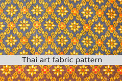 Thai art fabric pattern Royalty Free Stock Images