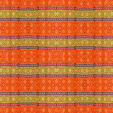Thai art on Fabric texture. Royalty Free Stock Images