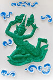 Thai art. The fairy sculpture from marble thai art royalty free stock images