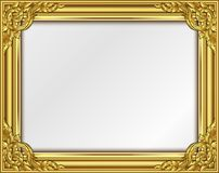 Thai Art, Gold border frame with thailand line floral for picture. Thai Art, Gold border frame with Thailand line floral for picture, Vector design decoration Royalty Free Stock Image