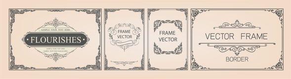 Thai Art, Gold border frame with thailand line floral for picture, Vector design decoration pattern style.frame corner design is p. Attern stock illustration