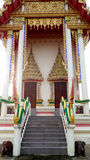 Thai art on gold of buddhist temple Royalty Free Stock Images