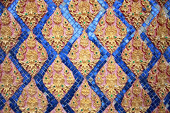 Thai art gold color pattern Royalty Free Stock Photos