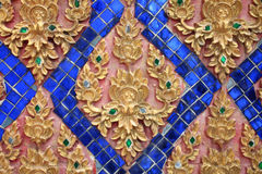 Thai art gold color pattern Stock Photography
