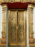 Thai art gold painting Royalty Free Stock Photo