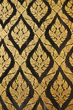 Thai art gold painting pattern on door Stock Photography