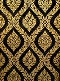 Thai art gold paiting. Pattern on door Stock Image