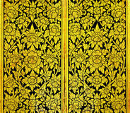 Thai art gold pattern very old stock images