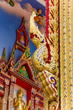 Thai art golden of head king of nagas Stock Photography