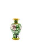 Thai art, handmade flowers vase Stock Photos
