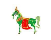 Thai art horse. Detailed  illustration Stock Photography