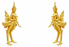 Thai art Kinnaree statue : The mythical half bird half woman Stock Images