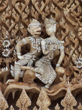 Thai art in love. Concept ,Ramayana, the oldest of the Sanskrit epic Stock Photo