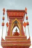 Thai art monk Stock Image
