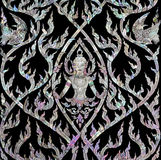 Thai art with mother of pearl inlay Royalty Free Stock Images