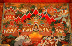 Thai art mural Royalty Free Stock Photography