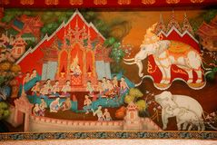 Thai art mural Royalty Free Stock Photos