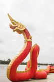 Thai Art, Naka statue at  temple,Thailand.  Stock Photos