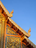 Thai Art On Temple Roof Of Wat Phra Singh In Chiangmai, Thailand Royalty Free Stock Image