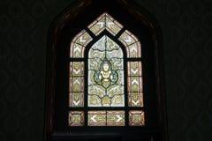 Free Thai Art On Window Of Church At Wat Benchamabophit. Stock Photo - 107409730
