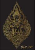 Thai art outline illustrator Stock Photos