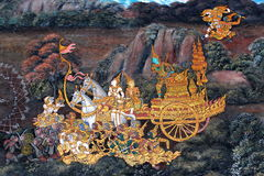 Thai art Painting. On temple wall Stock Images