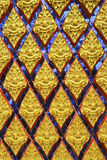 Thai art pattern. Decoration Thai art pattern on the door temple royalty free stock images