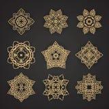 Thai art pattern design Vector set Royalty Free Stock Photos