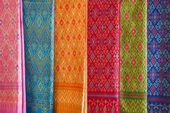Thai art pattern on fabric. Stock Photo