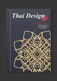 Thai art Pattern Flyer design Vector Layout in A4 size Stock Photo