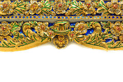 Thai Art Pattern Mural Stock Photo
