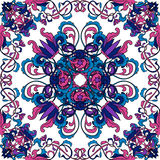 Thai art pattern. Oriental floral seamless ornament. Colorful hand drawn vector Stock Photos