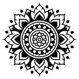 Thai art pattern, traditional design form Thailand - Lai Thai Royalty Free Stock Photography