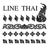 Thai art pattern vector Royalty Free Stock Image