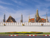 Thai art places in Royal grand palace Royalty Free Stock Images
