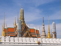 Thai art places in Royal grand palace Stock Images