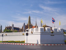 Thai art places in Royal grand palace Stock Photos
