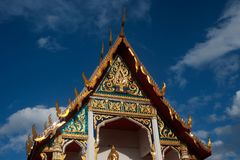 Thai art at roof Church 1. Royalty Free Stock Image