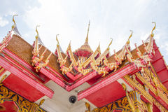 Thai art on roof Church Royalty Free Stock Image