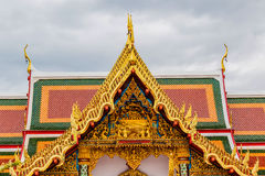 Thai art on roof Church at  temple Royalty Free Stock Photography