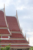 Thai art on roof Church at Thai temple Stock Images