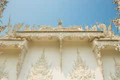 Thai art roof of Rongkhun Temple Chiangrai, Thailand. Royalty Free Stock Image