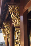 Thai art sculpure in Wat Pra-sing, Chiangmai Royalty Free Stock Photo