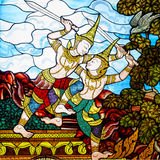 Thai art stain glass Stock Photos