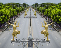 Thai art street lamp Royalty Free Stock Photography