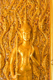 Thai art style on door thailand Royalty Free Stock Photography